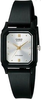 Casio LQ142E-7A Women's Resin Band Silver Dial Gold Index Analog Watch