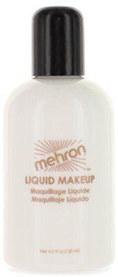 Mehron White Liquid Face Paint 4.5 Oz. For Airbrush Full Body Painting Halloween ()