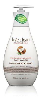 Live Clean Coconut Milk Moisturizing Body Lotion, 17 oz. FREE2DAYSHIP TAXFREE Coconut Milk Body Lotion