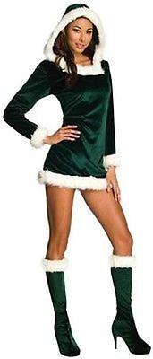 Rubies Sexy Grün Helfer Weihnachten Holiday Weihnachtsmann Elfen Damen (Rubies Weihnachtsmann Kostüm)