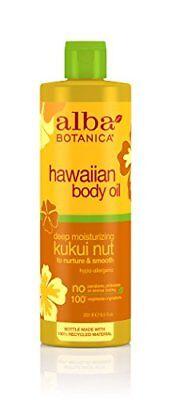 Alba Botanica Deep Moisturizing Kukui Nut Hawaiian Body Oil,