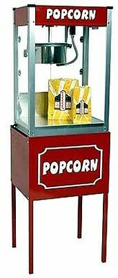 Paragon Thrifty Pop 4 Ounce Popcorn Popper Machine Wstand Combo - Made In Usa