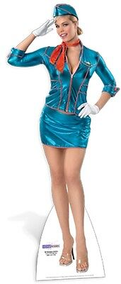 Air Hostess Cardboard Cutout Fun Figure 171cm Tall - Great for Themed - Movie Themes For Parties