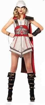Mädchen Tempelritter Erwachsene Damen Halloween Kostüm (Mädchen Assassins Creed Kostüm)