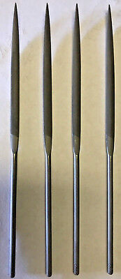Swiss Made Crossing Needle Files, 4pcs, Cut #6, Switzerland, New