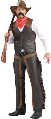 Adult Cowboy Chaps Halloween Costume Accessory (Cowboy Costume Accessories)