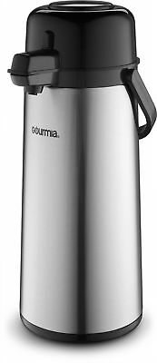 Gourmia Gap9820 Airpot Thermal Hot   Cold Beverage Carafe W  Pump Dispenser 2 2L