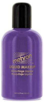 Mehron Purple Liquid Face and Body Painting Makeup Water Washable  4.5 oz](Purple Body Paint)