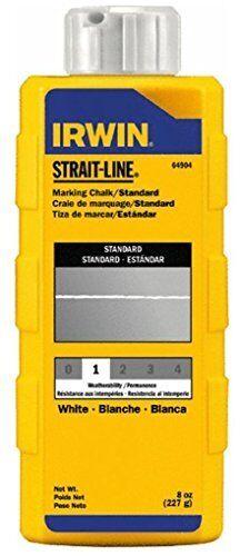 Irwin Strait Line 64904 8 Oz White Marking Chalk Refills