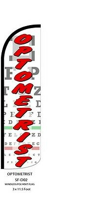 Optometrist Feather Flags Banner Sign Same Day Ship