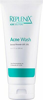 Replenix Acne Solutions 10% Benzoyl Peroxide Wash, 6.7 oz.- Brand New! Fresh!