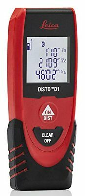 Leica Disto D1 130ft Laser Distance Measure With Bluetooth 4.0 Blackred