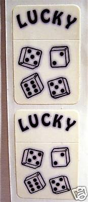 Vintage Lucky Dice 7 11 Flip Top Old Cigarette Lighter Stickers Old Stock