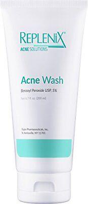 Replenix Acne Solutions 5% Benzoyl Peroxide Wash, 6.7 oz  NEW! FRESH!  EXP:11/19