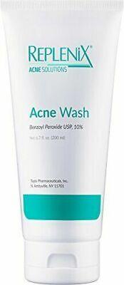 Replenix Acne Solutions 10% Benzoyl Peroxide Wash, 6.7 oz.- Exp. 09/2021 - New