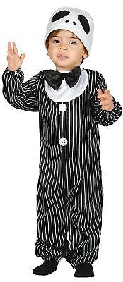 Baby Skelett König Film Halloween Kostüm Kleid Outfit 6-12 & 12-24 Monate