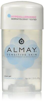 Almay Clear Deodorant Anti-perspirant (Almay Sensitive skin Clear Gel Anti Perspirant & Deodorant Fragrance Free 6 pack)