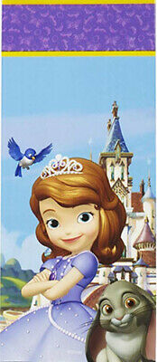 PRINCESS SOFIA THE FIRST plastic LOOT TREAT BAGS birthday party supplies 16pcs