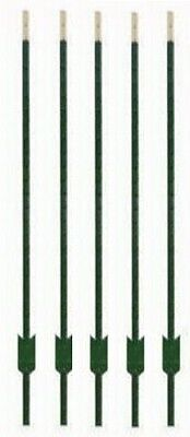 5 Midwest Air Tech 901174ab 5 Green Steel Studded Tee T Fence Posts