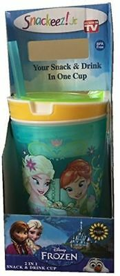 Snackeez Jr. Disney Frozen Snack and Drink Cup, Aqua