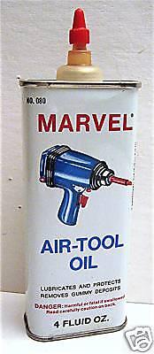 Old Marvel Air Tool Oil Handy Oiler Tin Port Chester NY