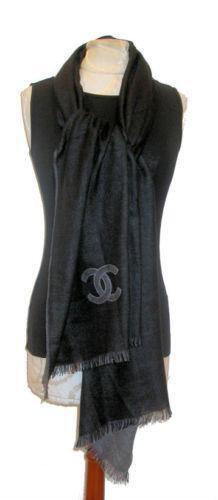 chanel black scarf scarves wraps ebay
