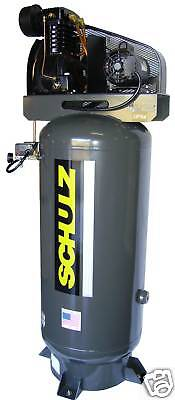 Schulz Air Compressor 5hp 80-gallon 20 Cfm Two Stage 1ph New