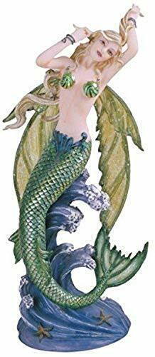 "8.5"" Fairy Mermaid Statue Fantasy Sculpture Home Decor Myth Figure"