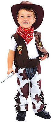Childrens Cowboy Fancy Dress Costume Woody Toy Story Boys Kids Outfit 2-3 - Cowboy Woody Costume