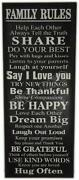Family Rules Wall Stickers