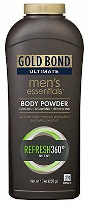 Gold Bond Ultimate Men's Essentials Body Powder Refresh 360 Scent 10oz (Gold Bond Ultimate Mens Essentials Body Powder)