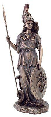 11.5 Inch Greek Warrior Athena Goddess of War & Wisdom Arts Figure Statue Roman