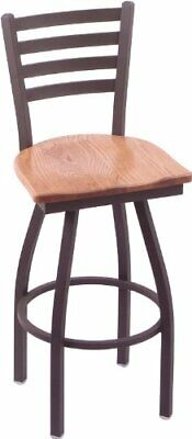 "Holland Bar Stool Co. 410 Jackie 30"" Bar Stool with Bronze Finish, Medium Oak..."