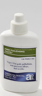 Pink Polishing Paste- 8 Oz For Dental Lab Denture Acrylics