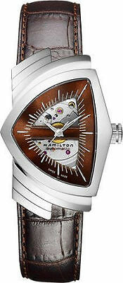 Hamilton Ventura Brown Dial Skeleton Dial Men's Watch H24515591