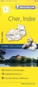 Cher, Indre, France Local Map 323 by Michelin Travel Publications (Sheet map,...