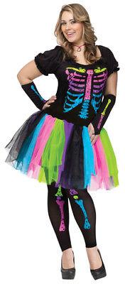 Plus Size Womens Funky Punk Bones Costume - Plus Size Zombie Kostüme