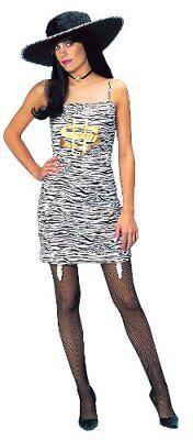 Franco Miss Money Ladies Zebra Print Costume Standard (Fits up to Size 12) - Zebra Print Halloween Costumes