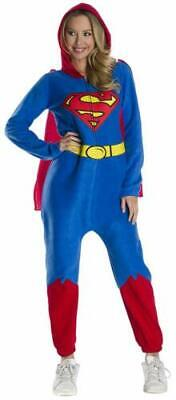 Superman DC Comfywear Jumpsuit Fancy Dress Up Halloween Adult Costume SZ M 10-14