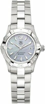 TAG HEUER WAF1417.BA0812 WOMENS AQUARACER BLUE MOTHER OF PEARL WATCH GIFT IDEA