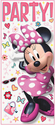 MINNIE MOUSE  Scene Setter BIRTHDAY party wall or door poster Disney decoration](Decoration Minnie Mouse)