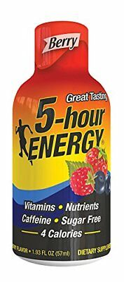 5 Hour Energy shot Nutritional Drink Bottles, Berry Flavor, 1.93 Ounce 12 count