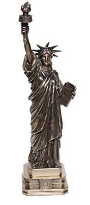 12 3/8 Inch Cold Cast Bronze Resin Statue of Liberty Collectible Figure -