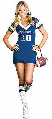 Dreamgirl USA 6470 Superstar Player Sports Football Costume Cosplay Last Large](Superstar Costumes)