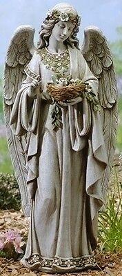 "Joseph's Studio 24""H Angel Holding Bird's Nest Outdoor Garden Statue # 62856"