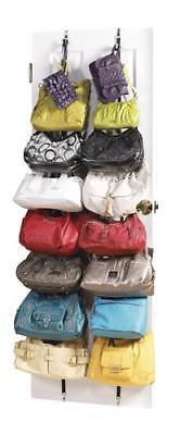 2 pack Adjustable Over the Door Purse Hat Cap Hand Bag Rack Organizer](Bag Rack)