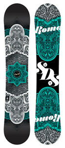 Rome Gold Teal 155cm Snowboard 15/16 Perfect Condition!