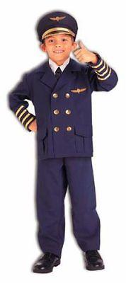 Childrens Official Airline Pilot Costume Medium 8-10