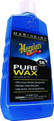 Meguiar's Boat Marine RV Pure Wax Carnauba Blend Maintain Extraordinary