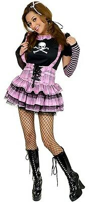 Punk Rock Princess Pink Pirate School Girl Dress Up Sexy Halloween Adult Costume